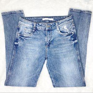 Zara Blue Acid Wash Skinny Jeans